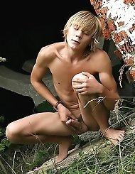 Handsome gay mate Taras exposes and masturbates