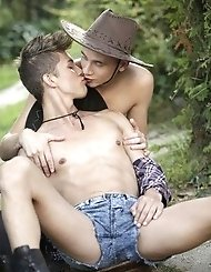 Young model Angel Lopez takes Ray's meat...