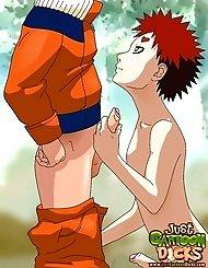 Naruto and his teammates attack sturdy gay cocks